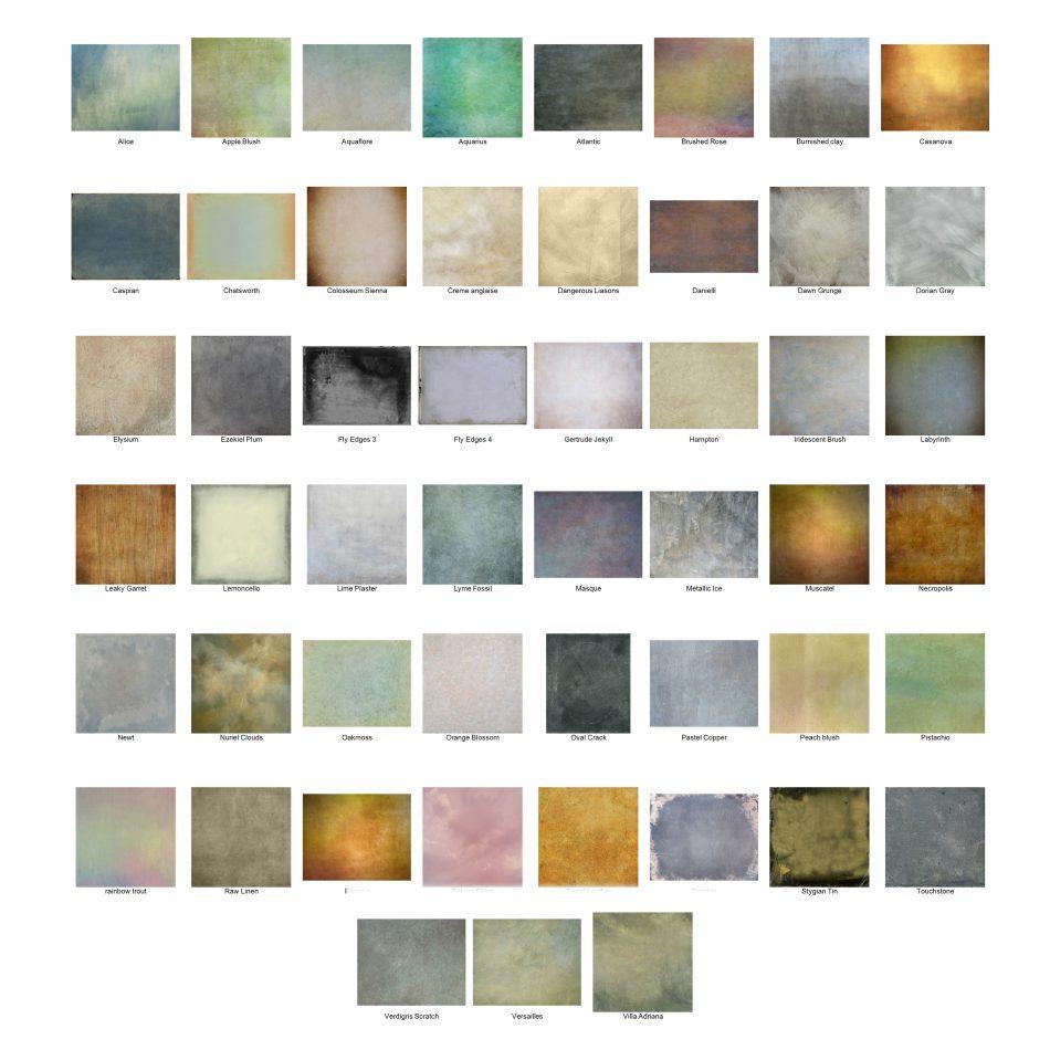 Panel textures mosaic