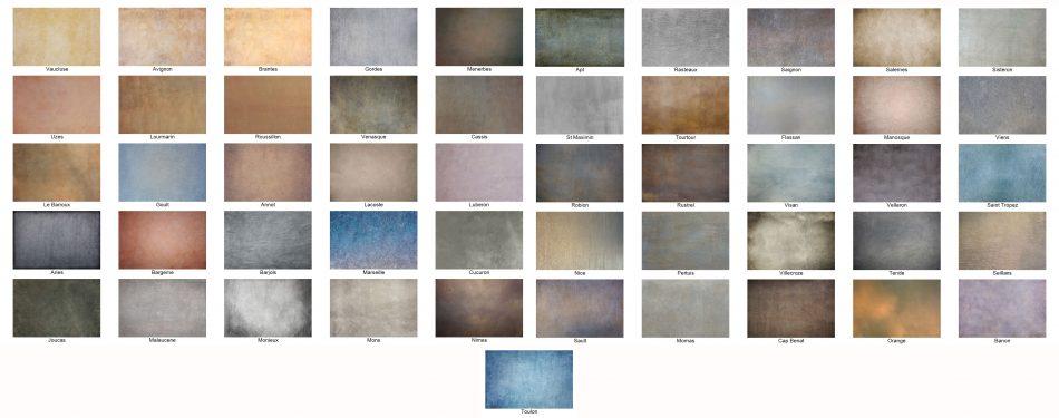 Provencal texture thumbnails
