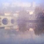 river mist after