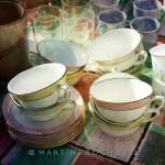 Tea cups after
